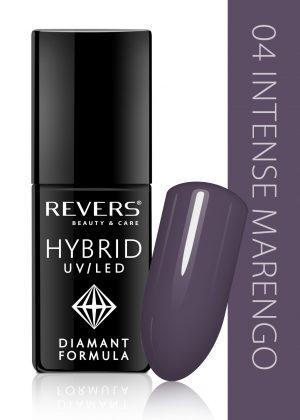 Hibridinis nagų lakas REVERS COSMETICS HYBRID UV/LED Nr. 04, 6 ml