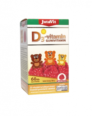 Maisto papildas JUTAVIT D3-VITAMIN, 60 guminukų