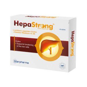 Maisto papildas HEPA STRONG, 40 tab.