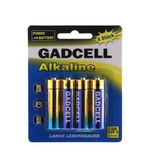 Maitinimo elementai GADCELL ALKALINE AA, 4 vnt.