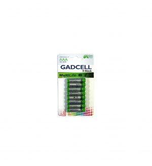 Maitinimo elementai GADCELL MULTILIFE AAA, 8 vnt.