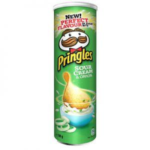 Bulvių traškučiaiPRINGLES Sour Cream & Onion, 165 g