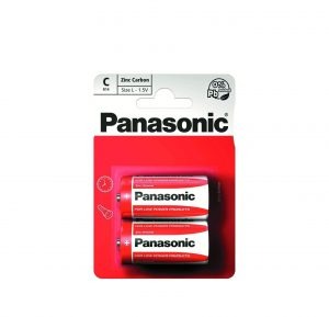 Maitinimo elementai PANASONIC ZINC CHLORIDE, 2 vnt.