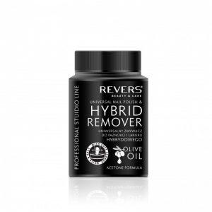 Universalus nagų lako ir hibridinio nagų lako valiklis REVERS BEAUTY & CARE HYBRID REMOVER, 75 ml