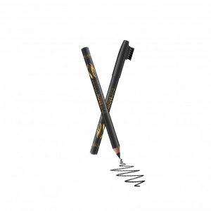 Antakių pieštukas su šepetėliu REVERS BEAUTY & CARE EYE BROW STYLIST juodos spalvos