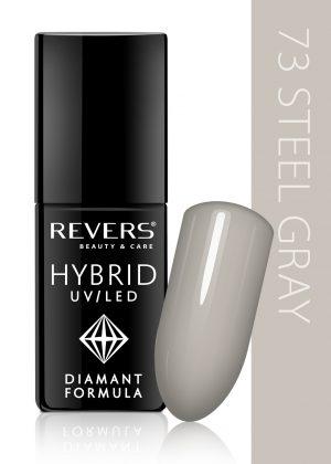 Hibridinis nagų lakas REVERS COSMETICS HYBRID UV/LED Nr. 73, 6 ml