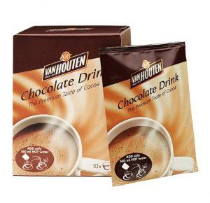 Karšto šokolado milteliai VAN HOUTEN, 10 x 23 g