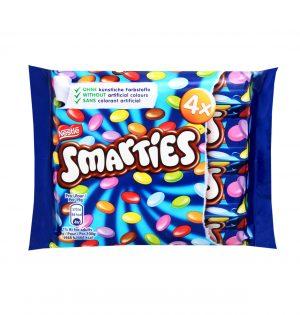 Dražė saldainiai SMARTIES, 4x38 g