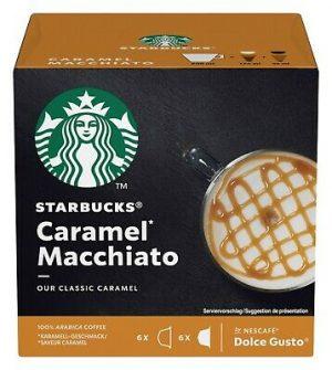 Kavos kapsulės STARBUCKS MACCHIATO CARAMEL, 6 + 6 kaps.