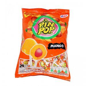 Ledinukai ant pagaliuko PIN POP MANGO, 17 g x 24 vnt.