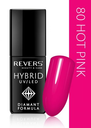 Hibridinis nagų lakas REVERS COSMETICS HYBRID UV/LED Nr. 80, 6 ml