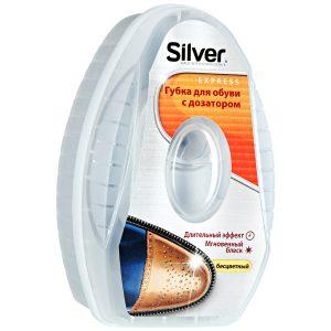 Bespalvė silikoninė batų kempinėlė su dozatoriumi SILVER, 6 ml