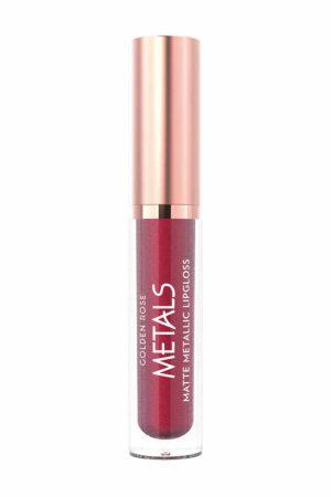 Matinis metalo atspalvio lūpų blizgis GOLDEN ROSE METALS Nr.057, 4,5 ml