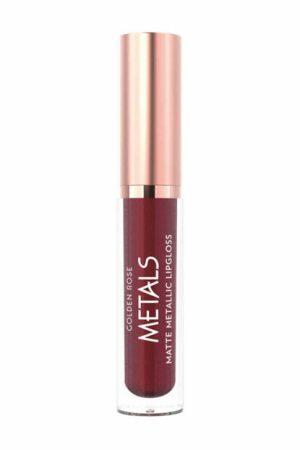 Matinis metalo atspalvio lūpų blizgis GOLDEN ROSE METALS Nr.058, 4,5 ml