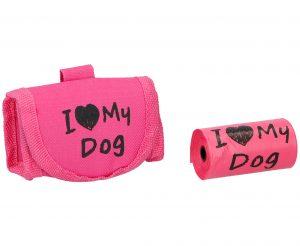 Šunų išmatų maišeliai su medžiaginiu laikikliu, 15 vnt.