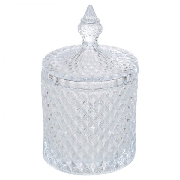 Stiklinis indas su dangteliu ALPINA, 19,5 x 10, 5 cm