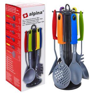 Virtuvės įrankiai su stoveliu ALPINA, 7 vnt.
