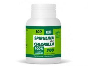 Maisto papildas SPIRULINA PLUS CHLORELLA, 100 tab.