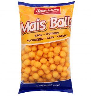 Kukurūzų kamuoliukai su sūrio aromatu SNACKLINE, 125 g
