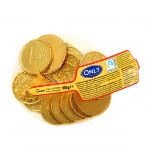 Pieninio šokolado monetos ONLY, 100 g