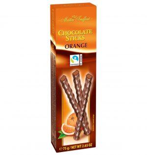 Šokoladinės lazdelės su apelsinų skonio įdaru MAITRE TRUFFOUT ORANGE, 75 g