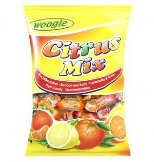 Vaisių skonio saldainiai WOOGIE CITRUS MIX, 250 g