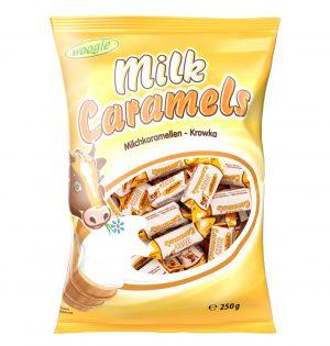 Karameliniai saldainiai WOOGIE MILK CARAMELS, 250 g