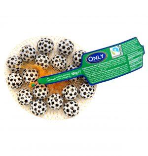 Pieniško šokolado saldainiai ONLY (futbolo kamuoliukai), 100 g