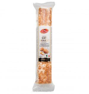 Baltoji nuga su žemės riešutais ir amaretti sausainiais SIR CHARLES, 100 g