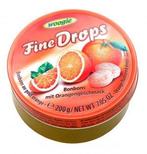 Apelsinų skonio ledinukai WOOGIE FINE DROPS, 200 g