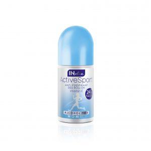 Moteriškas rutulinis antiperspirantas INELIA ACTIVE SPORT, 50 ml