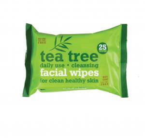 Valomosios veido servetėlės TEA TREE, 25 vnt.