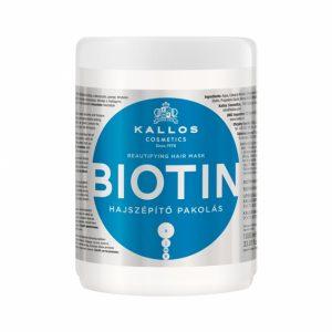 Plaukų kaukė KALLOS COSMETICS BIOTIN, 1000 ml
