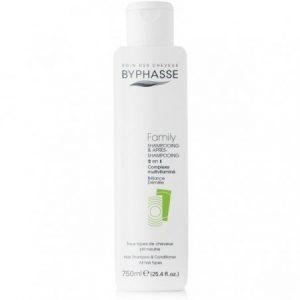 Plaukų šampūnas-kondicionierius BYPHASSE FAMILY 2 IN 1, 750 ml