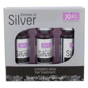 Plaukų priežiūros priemonė SHIMMER OF SILVER, 3 amp. x 12 ml