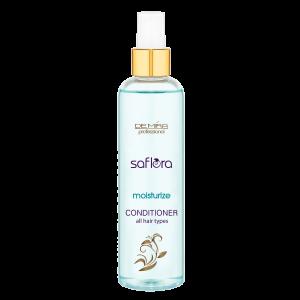 Purškiamasis visų tipų plaukų kondicionierius SAFLORA MOISTURIZE, 250 ml