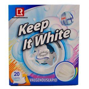 Skalbinių servetėlės KEEP IT WHITE, 20 vnt.