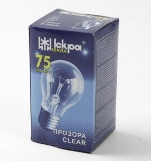 Elektros lemputė ISKRA 75 W, pramoniniam apšvietimui, 1 vnt.