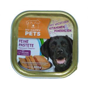 Šunų ėdalas, paštetas su vištiena  MY HAPPY PET'S, 300 g