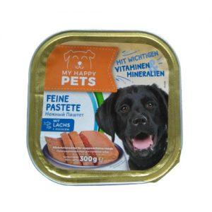 Šunų maistas, paštetas su lašiša MY HAPPY PET'S, 300 g