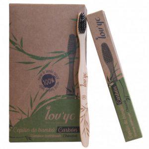 Bambukinis dantų šepetėlis LOV'YC CHARCOAL, 1 vnt.