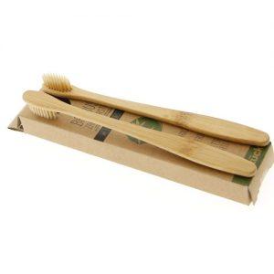 Bambukiniai dantų šepetėliai BAMBUS, 2 vnt.