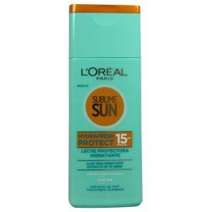 Apsauginis drėkinamasis pienelis nuo saulės L'OREAL SUBLIME SUN HYDRAFRESH PROTECT SPF 15, 200 ml
