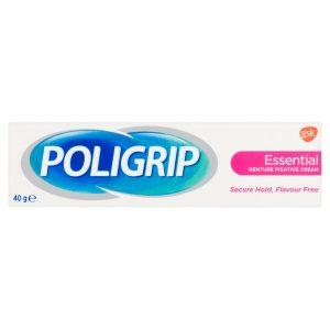 Dantų protezų fiksuojamasis kremas POLIGRIP ESSENTIAL, 40 g