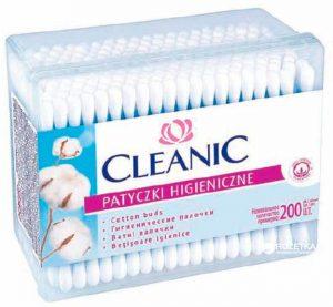 Higieniniai pagaliukai CLEANIC 200 vnt. dėžutėje
