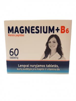Maisto papildas MAGNESIUM + B6, 60 tab.