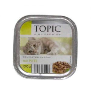 Kačių maistas, guliašas su kalakutiena TOPIC, 100 g