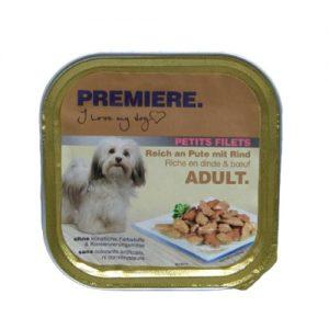 Konservuotas šunų maistas, guliašas su jautiena PREMIERE, 150 g