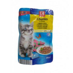 Kačiukų maistas, guliašas su vištiena ir kalakutiena K-CLASSIC, 100 g