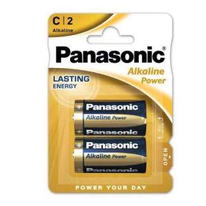 Maitinimo elementas PANASONIC ALKALINE R14, 1 vnt.